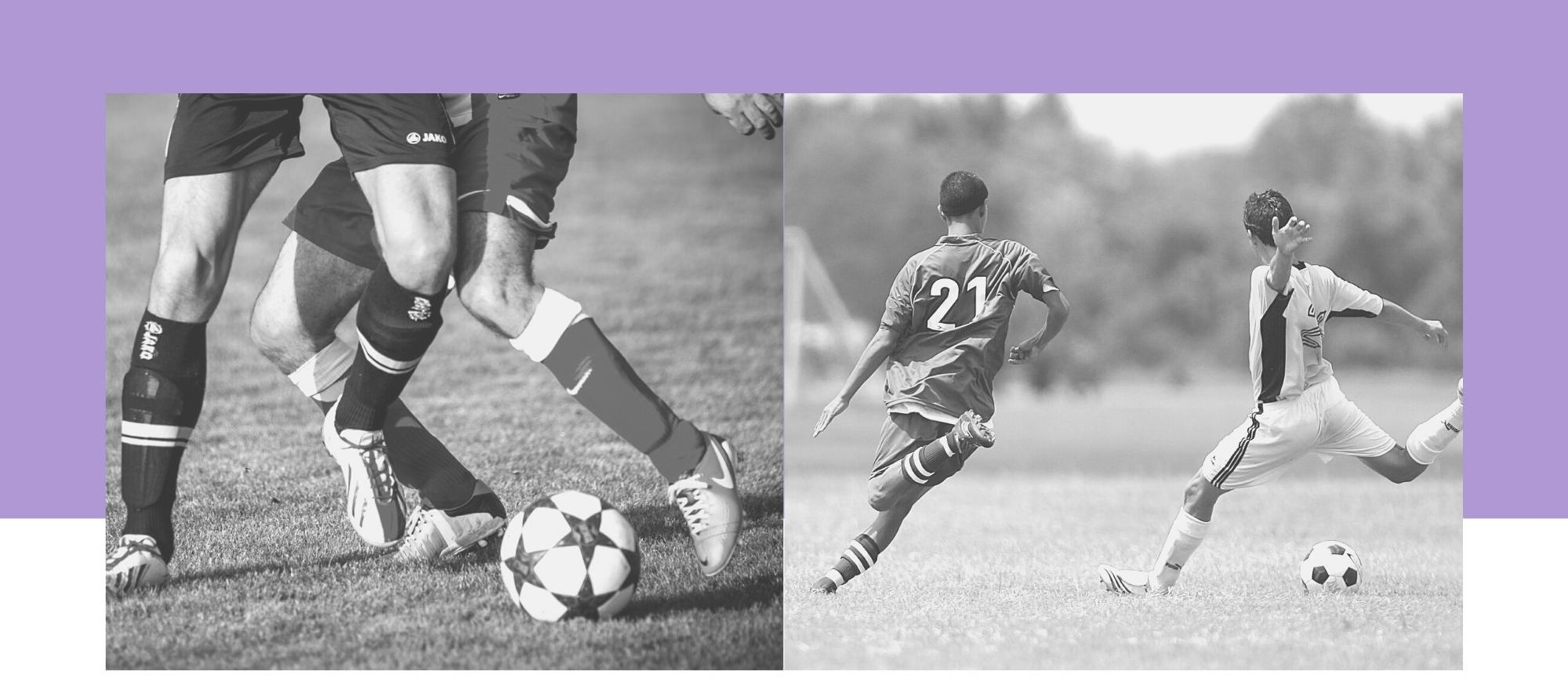 Illustrations footballeurs en action